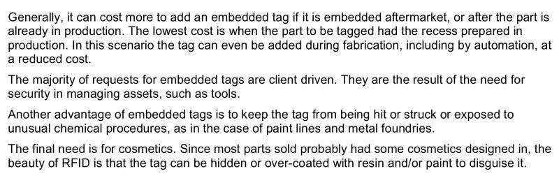 What drove introduction of tag